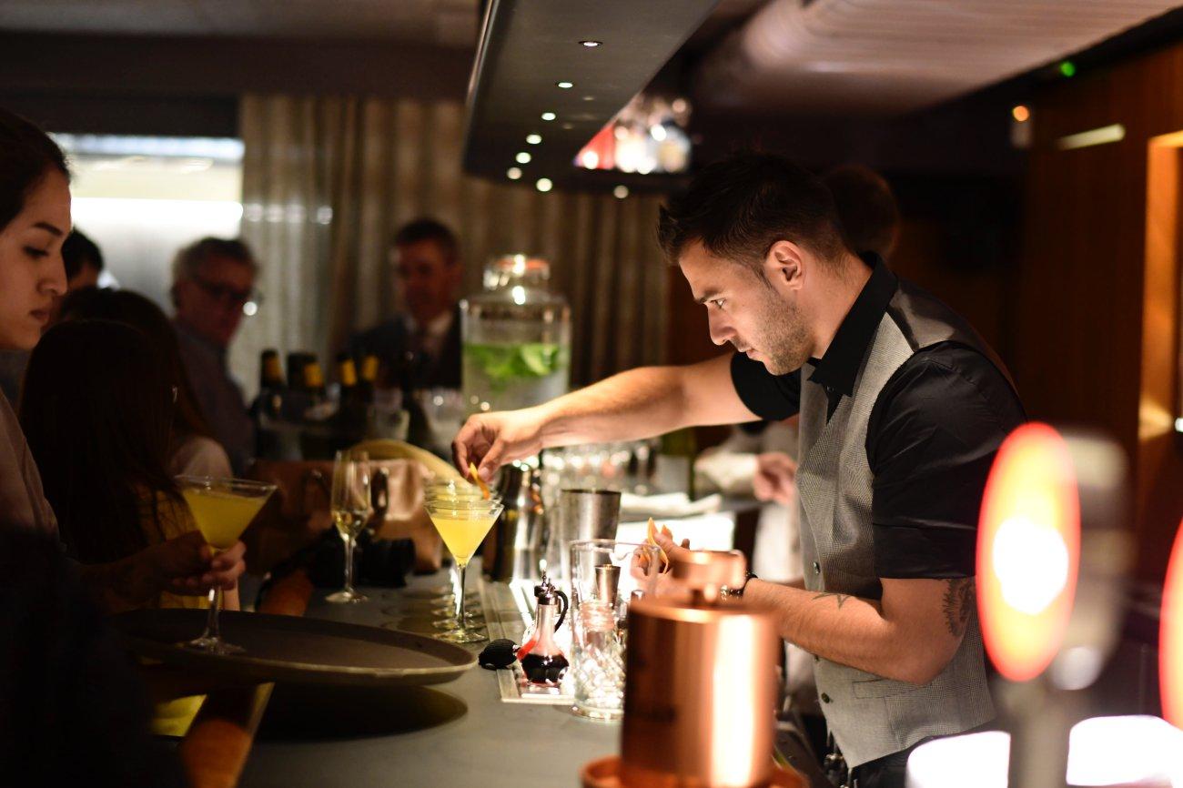 La coctelería 'Impur' con la que cuenta el restaurante 'Pur'.