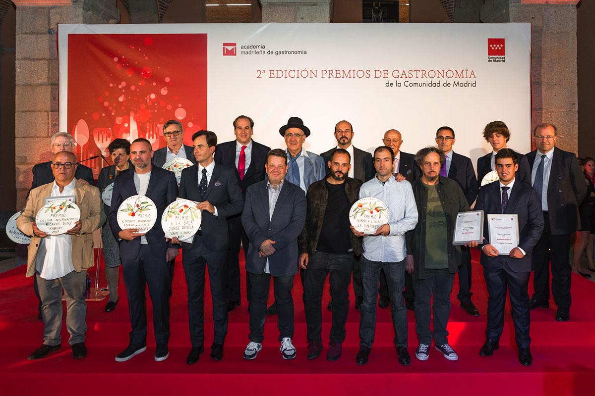 II Premios Gastronomía de Madrid. Foto de familia. Foto: David de Luis
