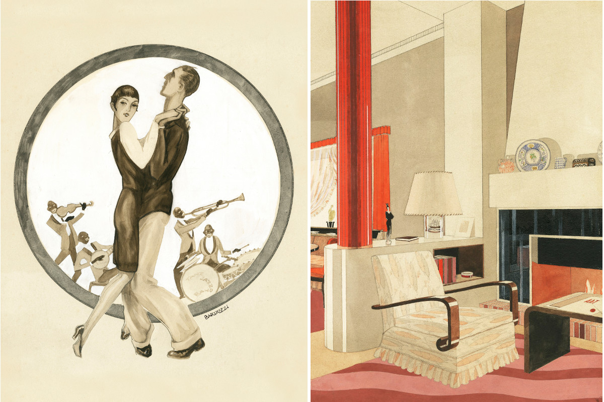 Detalle de dos obras expuestas en el Museo ABC durante el Madrid Design Festival.
