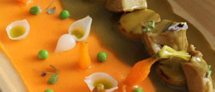 Seco de cordero con chicha de jora, calabaza y zapallo loche.