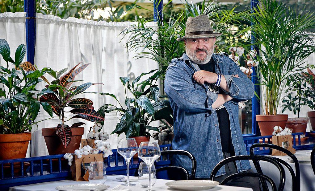 Sacha en su restaurante.
