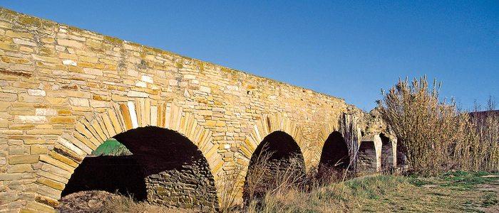 Acueducto romano en Lodosa, también llamado el puente de los Moros.
