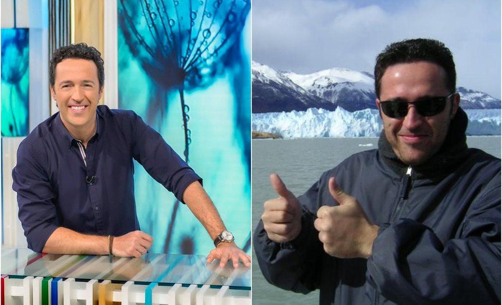 El presentador en el plató de su conocido programa y en uno de sus viajes. Fotos: Instagram.