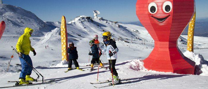 Clases de esquí para los más pequeños.