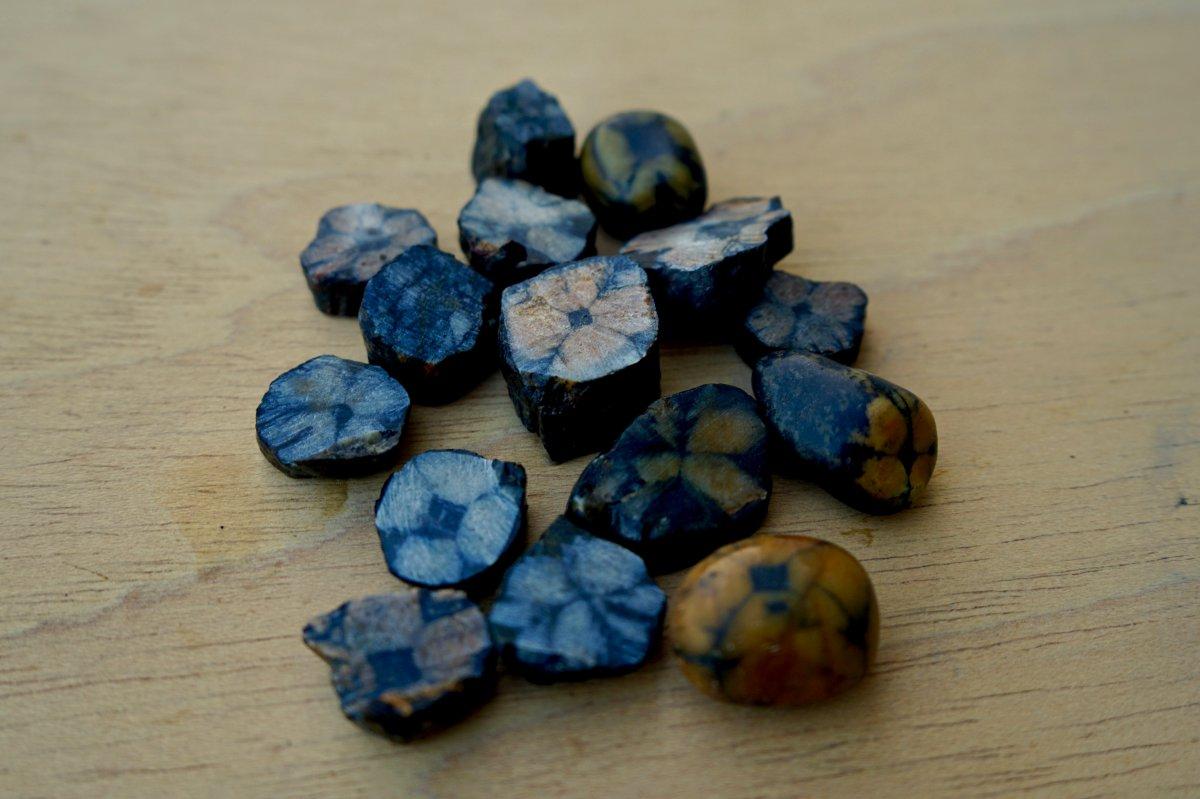 La piedra quiastolita es una beta de pizarra que se encuentran en la cara occidental del Navia.