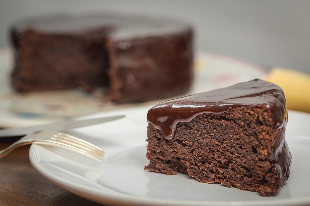 Tarta de chocolate sin harina.