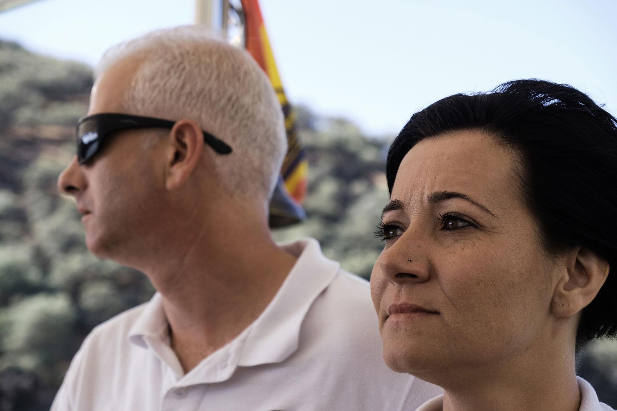 La tripulación, compuesta por David Pintando y Mónica Mielgo, se encarga de que todos se diviertan.