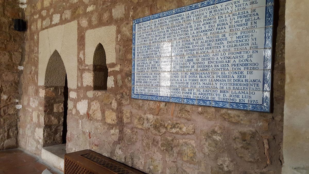 La celda donde estuvo Doña Blanca, en restauración.