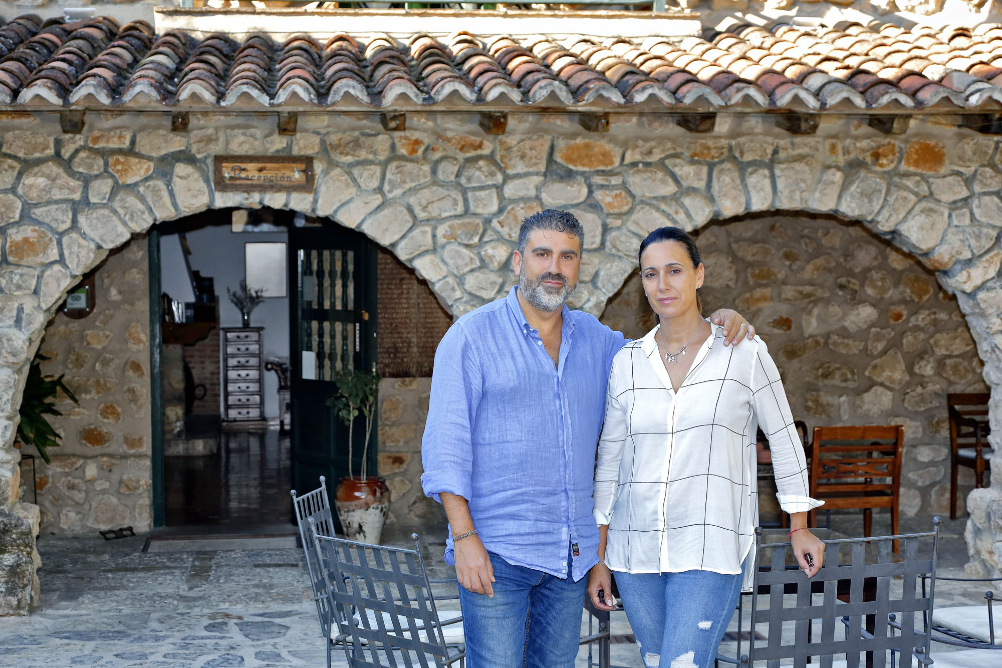 José Juan y Mónica llevan un año dirigiendo este hotel de 16 habitaciones.