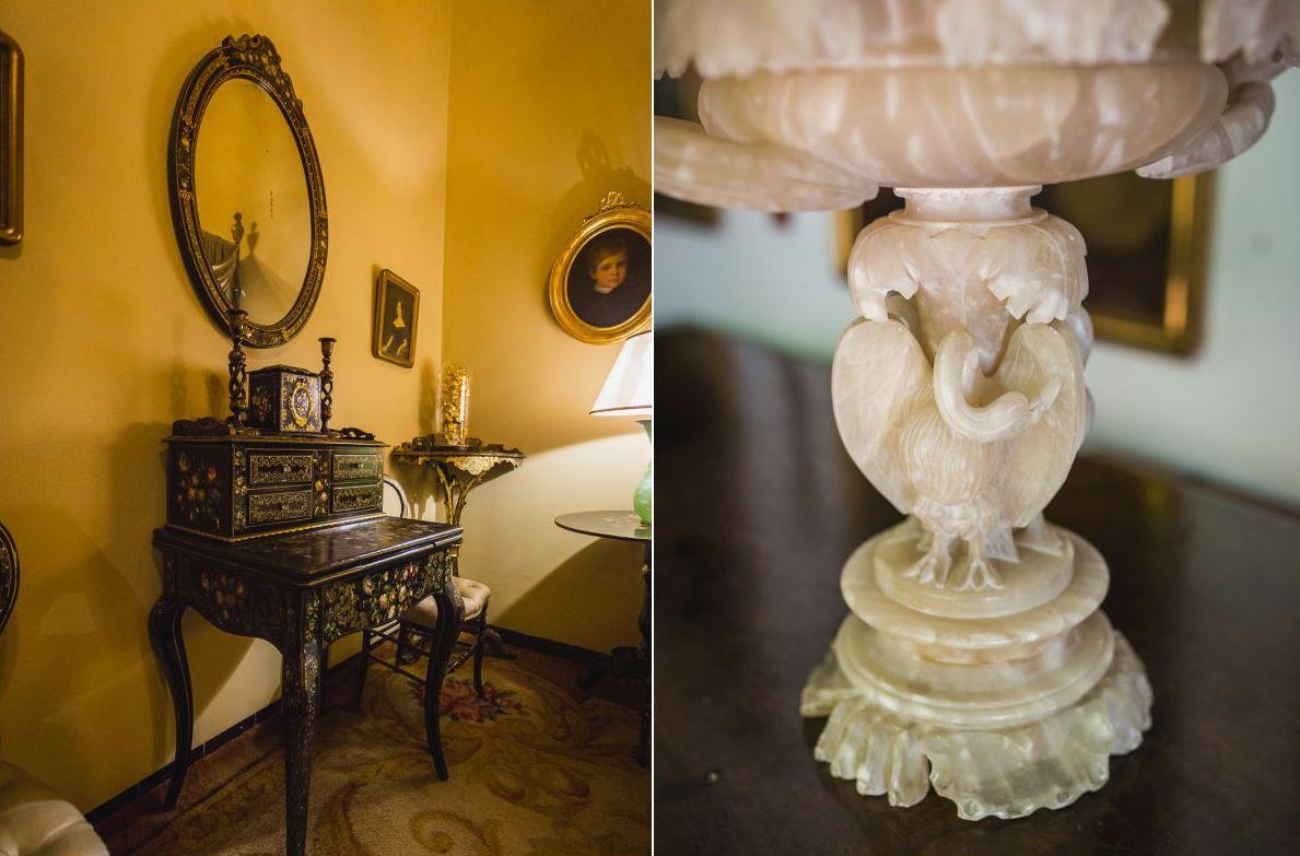 La colección de bienes del palacio perteneció a las familias nobles de los Villaseca y los Saavedra.