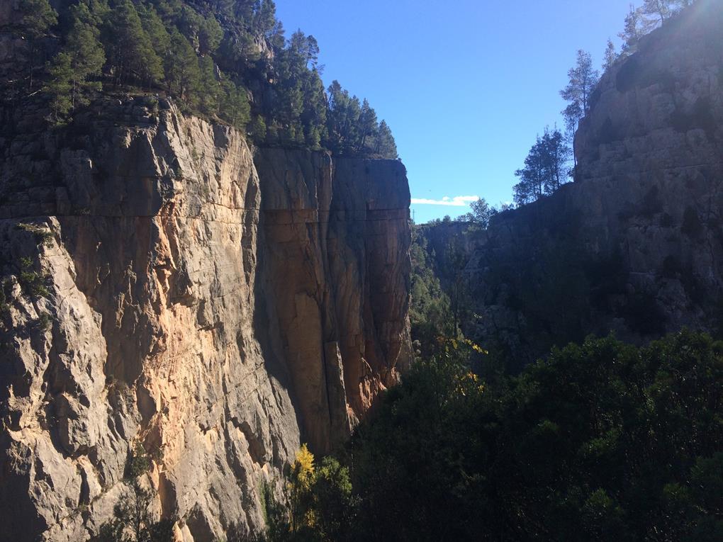 Las vistas del cañón nos hacen detenernos.