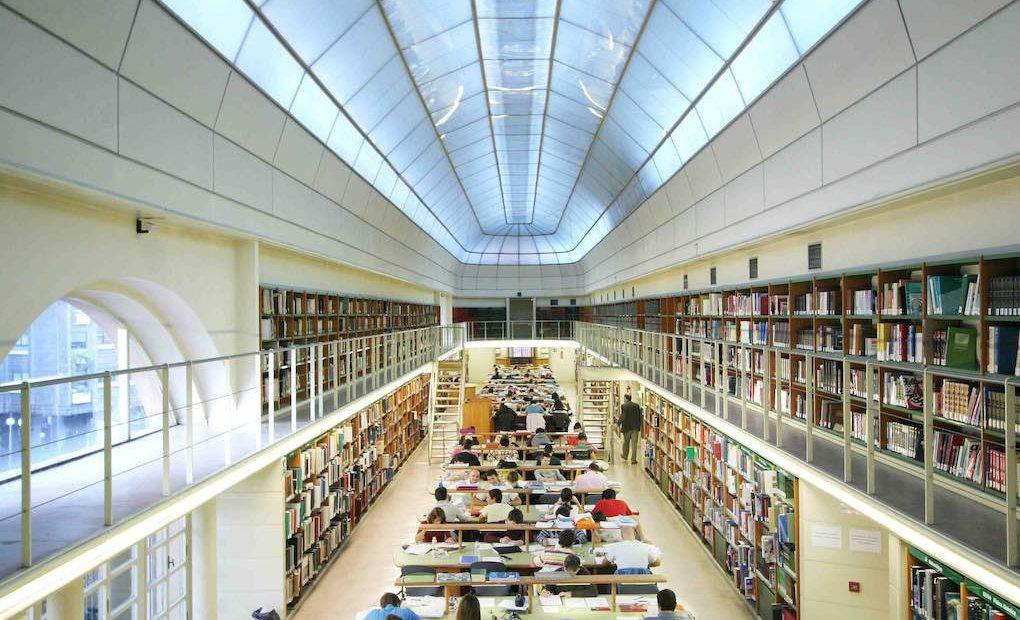 Interior de la Biblioteca de Castilla y León, en Valladolid. Foto: Biblioteca de Castilla y León.