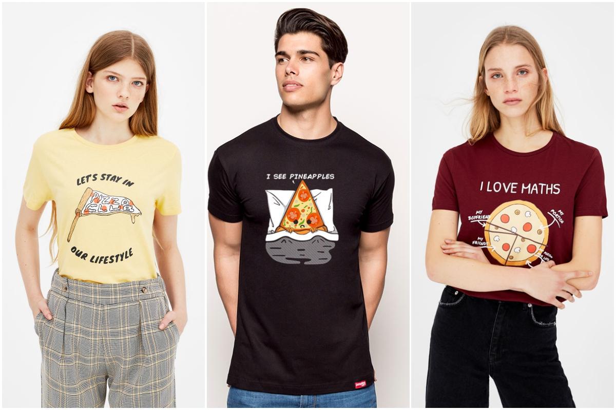 Las camisetas son un instrumento reivindicativo de un plato que no es tan basura como se le pinta (Pull&Bear y Pumpling.com).