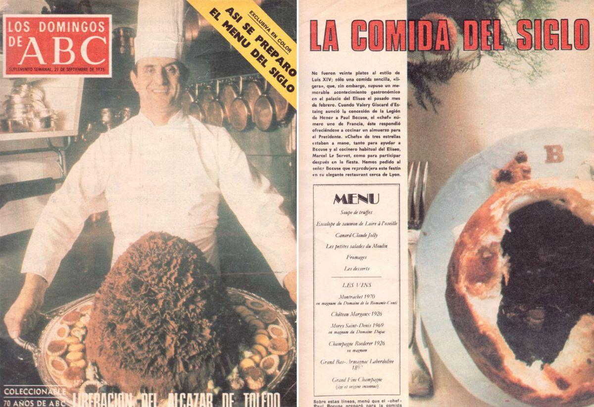 """La portada del 'ABC' con el reportaje """"La comida del siglo"""" de Susana Patterson."""