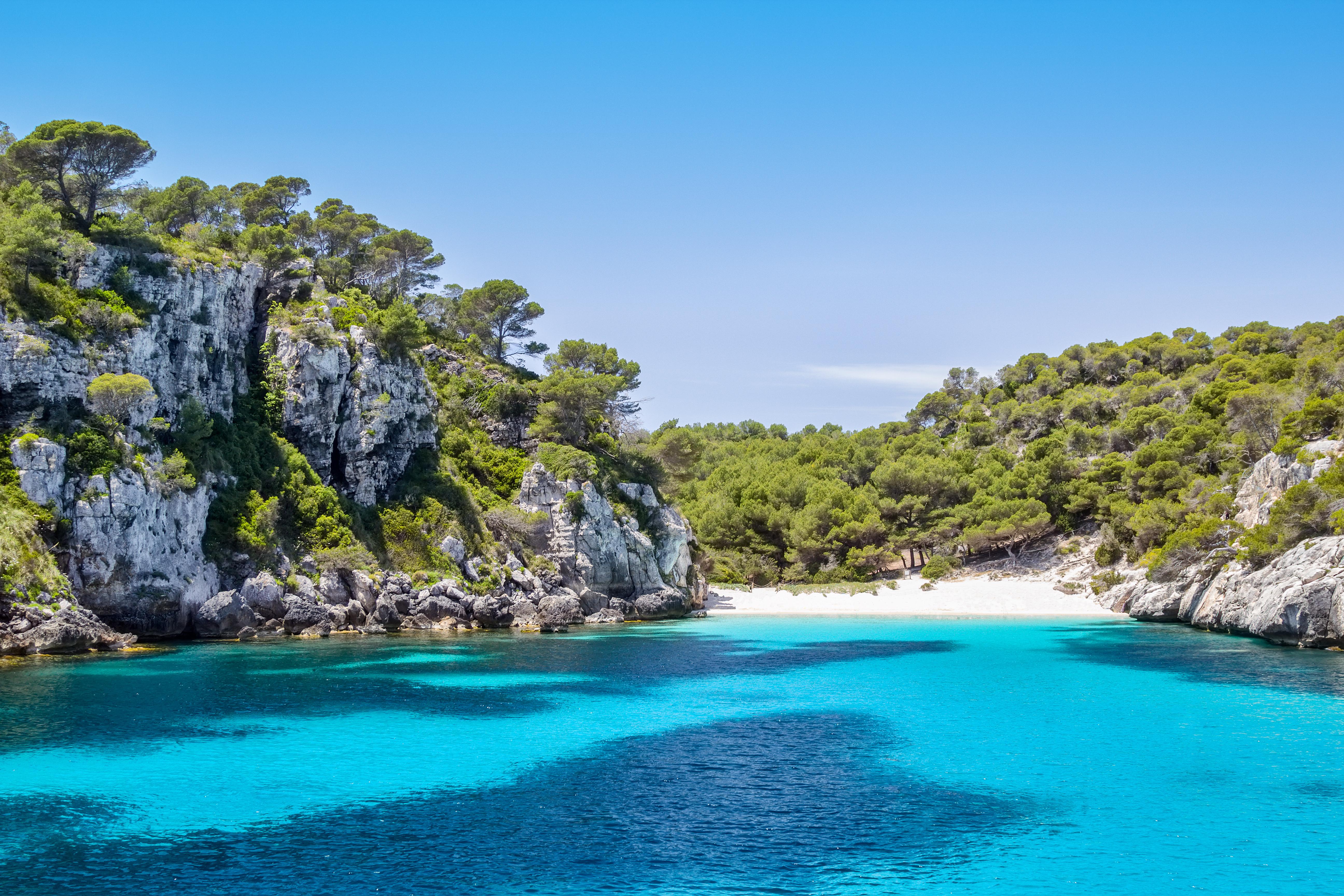 Una cala íntima y paradisiaca. Foto: Shutterstock.