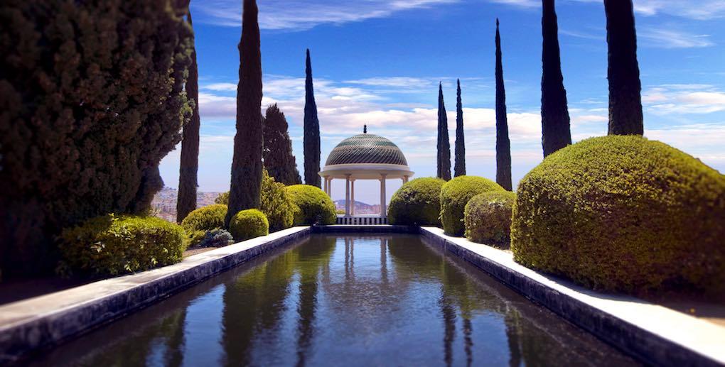 Las vistas desde el jardín de la ciudad de Málaga, otro aliciente. Foto: Facebook.