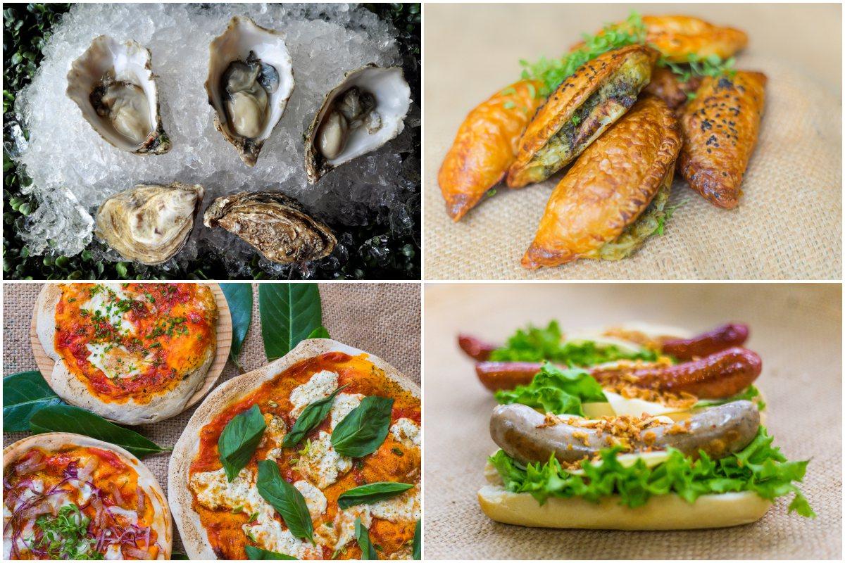 Perritos 'gourmet', empanadas argentinas, pizzas hechas en horno de piedra y de aperitivo 'premium': ostras al natural.