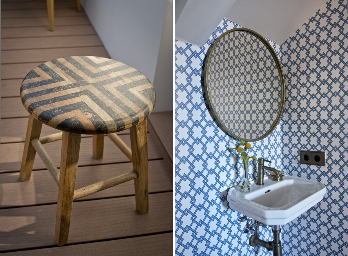 Los baños no escapan de esa inspiración años 20.