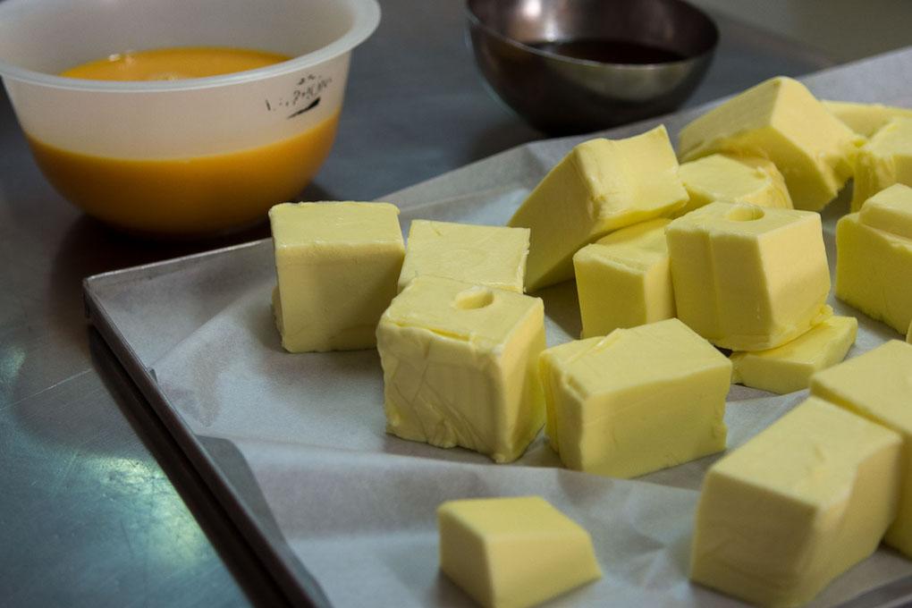 Mantequilla fresquísima como todos los ingredientes que Torreblanca selecciona para hacer su famoso panettone.