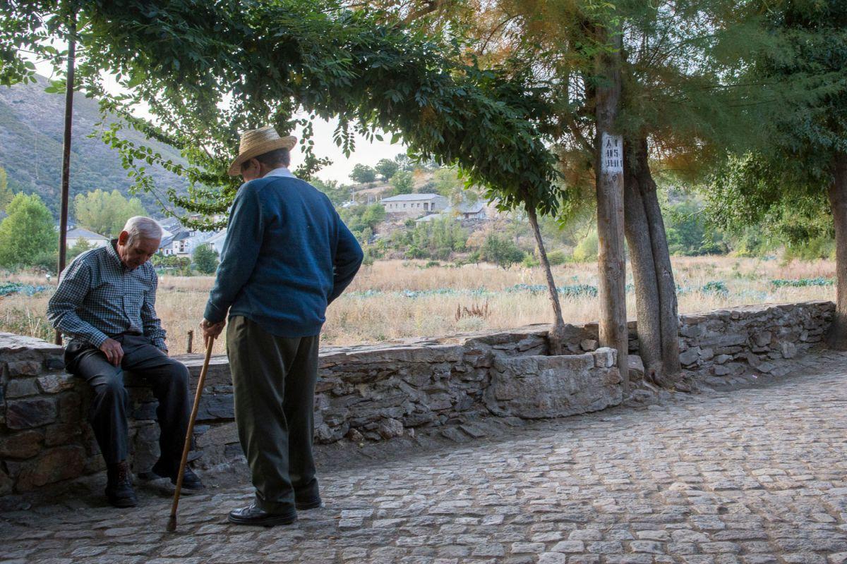 Huertos comunales de Riohonor de Castilla y Rio Onor de Portugal. Foto: Manuel Ruiz Toribio