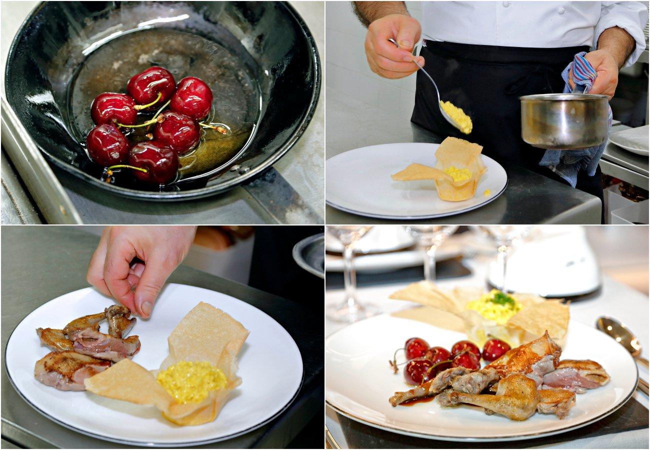 Viridiana: elaboración del pichón de 'Bresse'