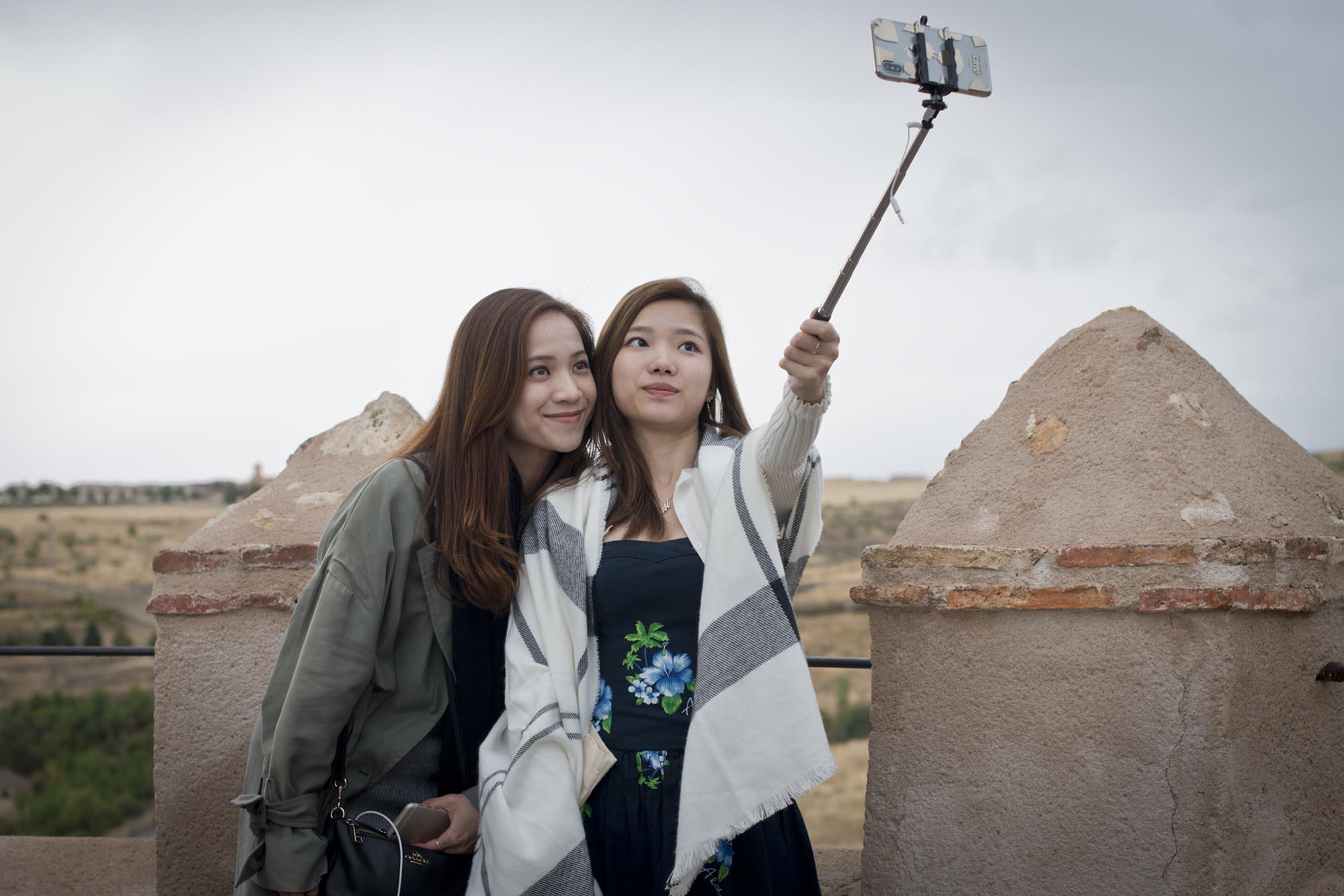 Lo primero, el selfie para Instagram desde las murallas de El Alcázar.