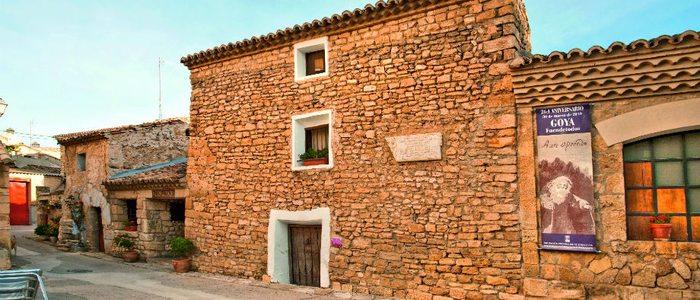 Casa natal del pintor Francisco de Goya y Lucientes en Fuendetodos.