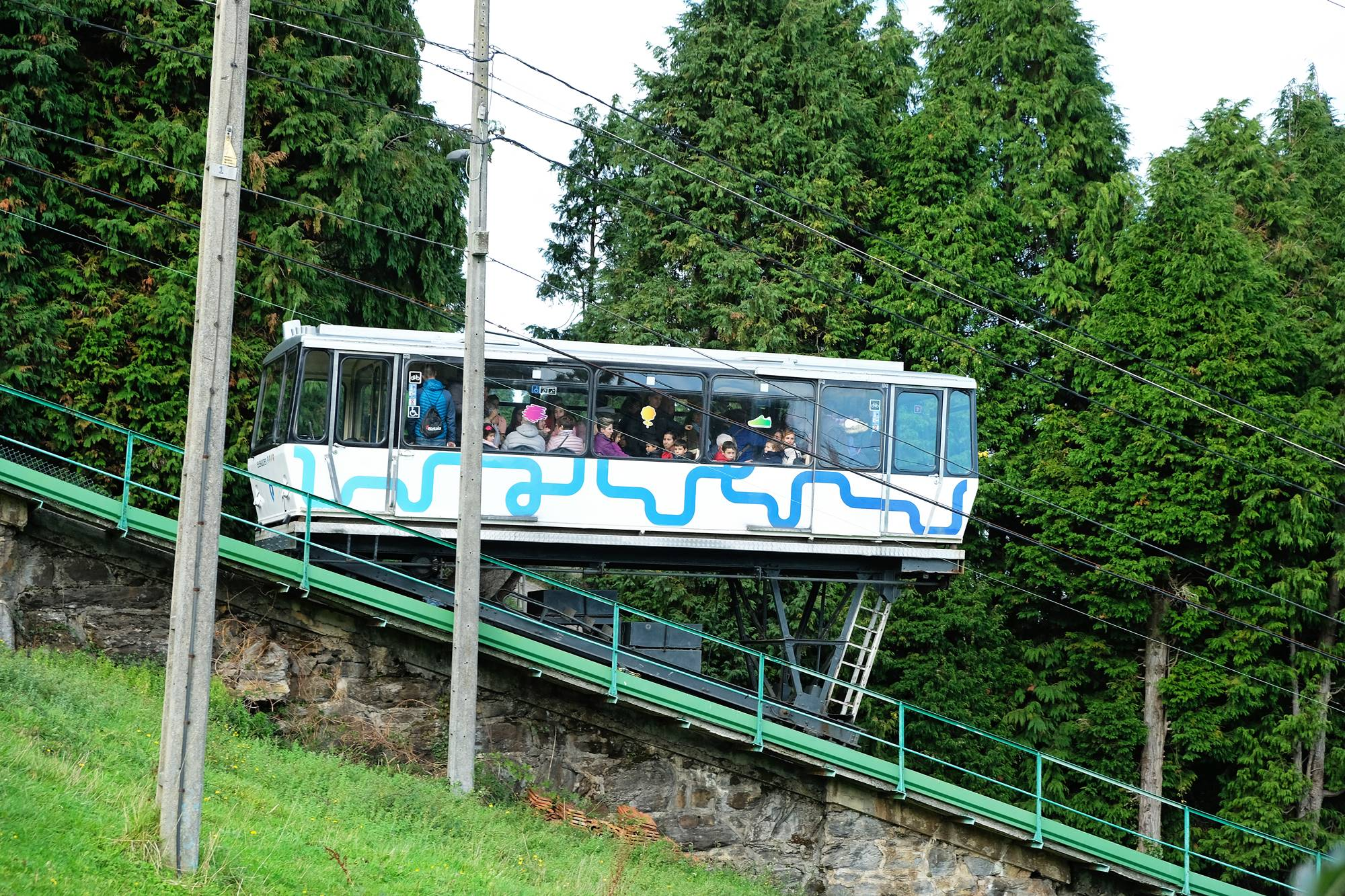 El funicular, una opción muy auténtica para terminar la visita.