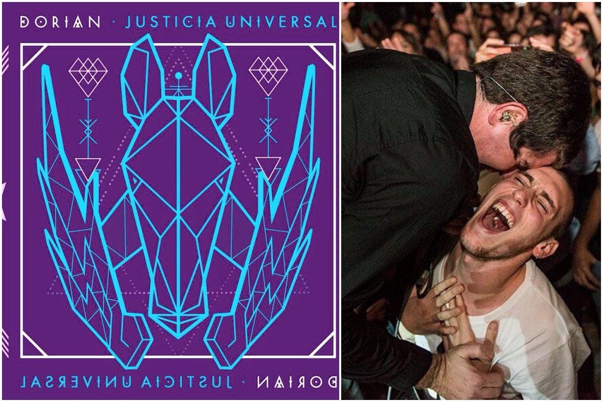 Portada del nuevo disco de Dorian y un momento de uno de sus conciertos. Fotos: Subterfuge / Nabscab.