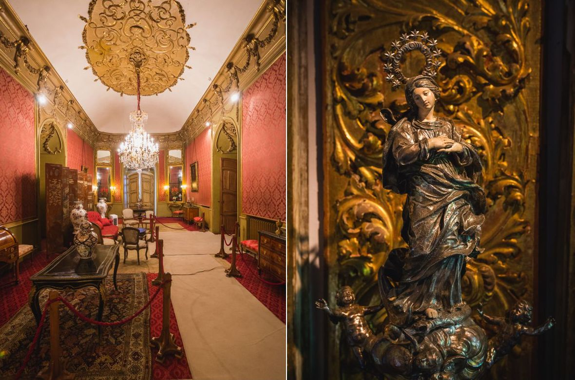 El Salón Rojo era uno de los espacios favoritos de la marquesa.