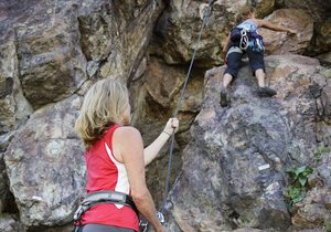 Escalada en la sierra de Guadarrama.