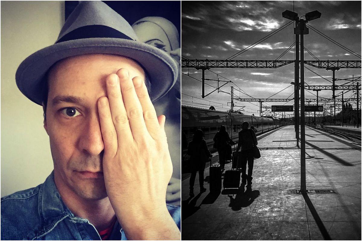 A punto de tomar el tren para acudir a alguna de sus representaciones teatrales por toda España. Fotos: Instagram