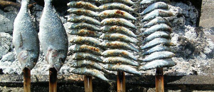 Espeto de sardinas de Pepe's Bar.