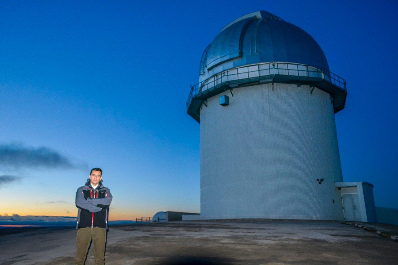 Sierra de Gúdar-Javalambre: Javier Cenarro en el Observatorio de Javalambre