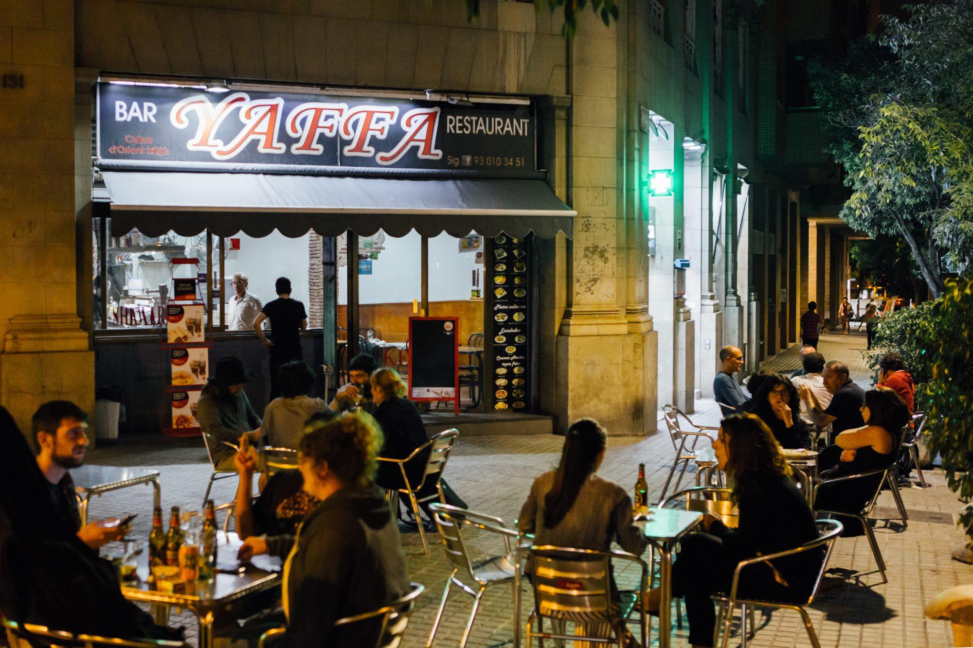 La terraza de 'Yaffa' también se puede disfrutar todo el año.
