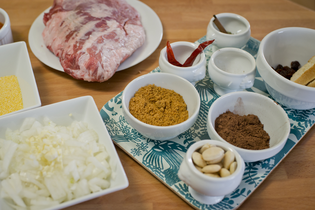 Ingredientes para la receta.