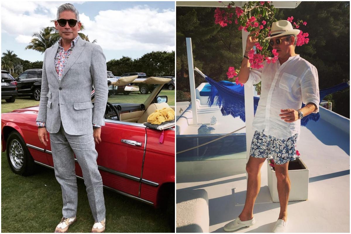 Boris Izaguirre dando un paseo con un coche deportivo y disfrutando de una jornada de turismo en un hotel. Fotos: Instagram.