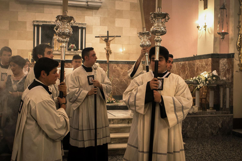 La religión, siempre presente. Verbena del Carmen. Foto: Manuel Ruiz Toribio.