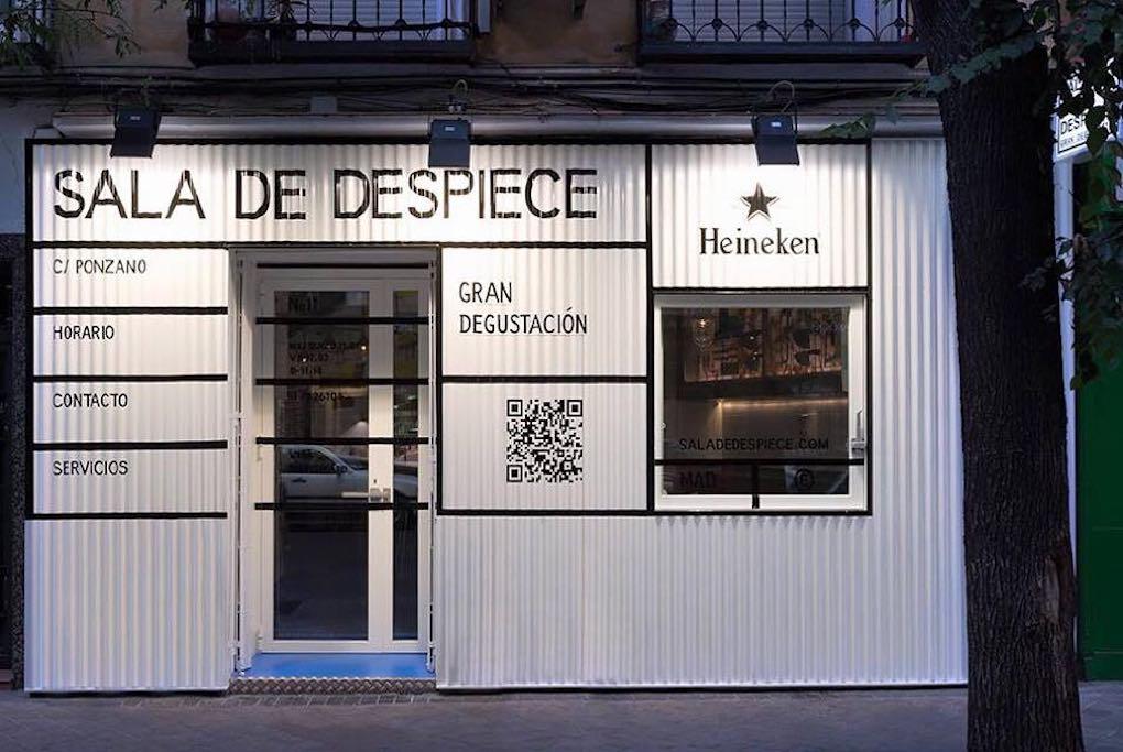 El local de 'Sala de Despiece' simula una especie de lonja donde probar tapas deliciosas. Foto: Facebook.