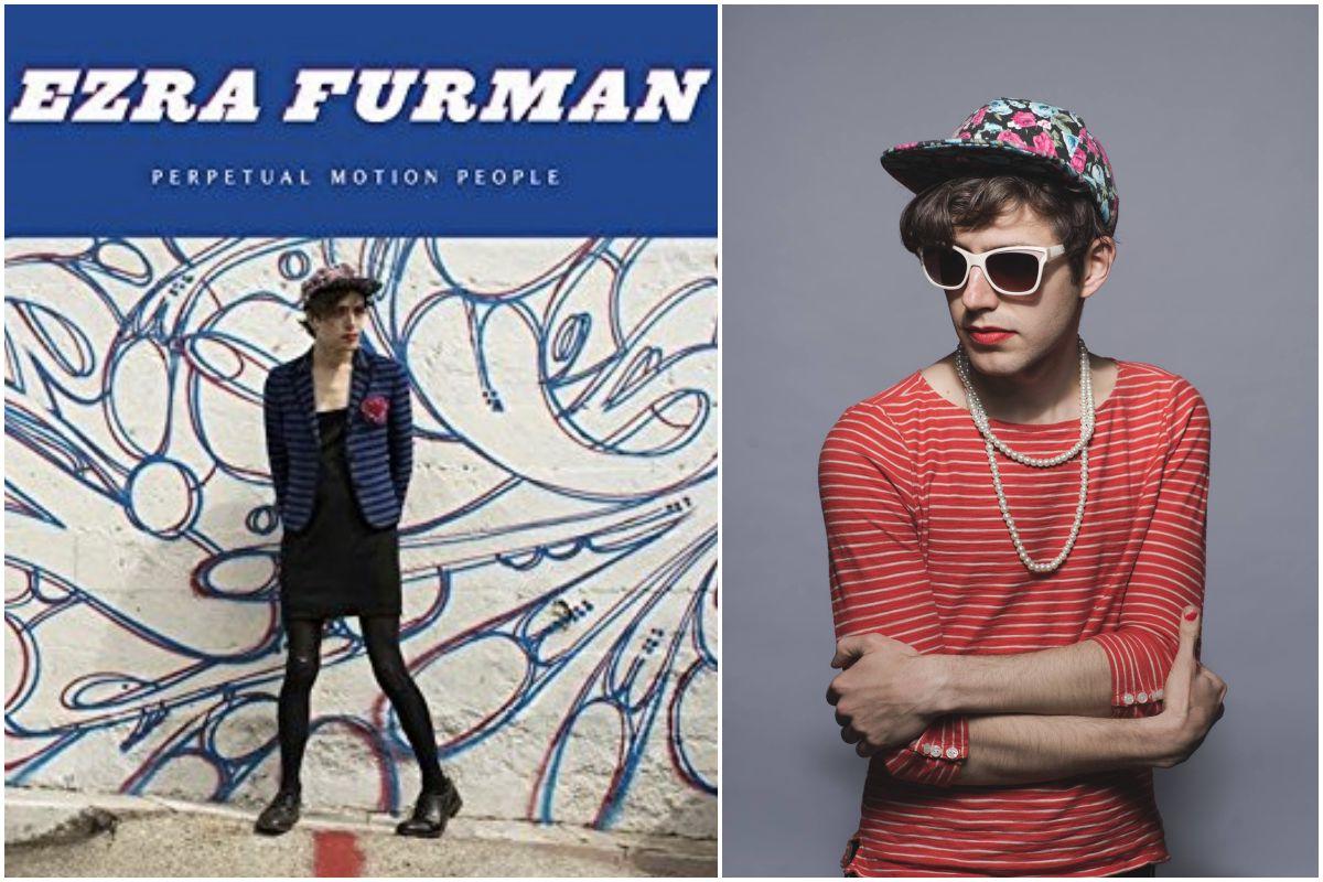 Portada del disco de Ezra Furman y una foto de uno de sus looks actuales.