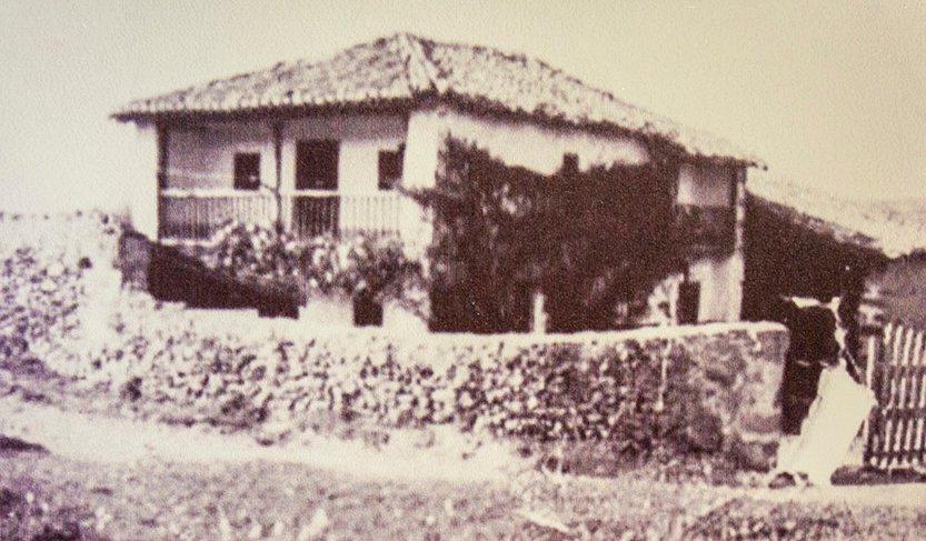 Las Carras, la casona de la familia Bedoya, antes del incendio. (foto del archivo de Ismael Gómez San Honorio).