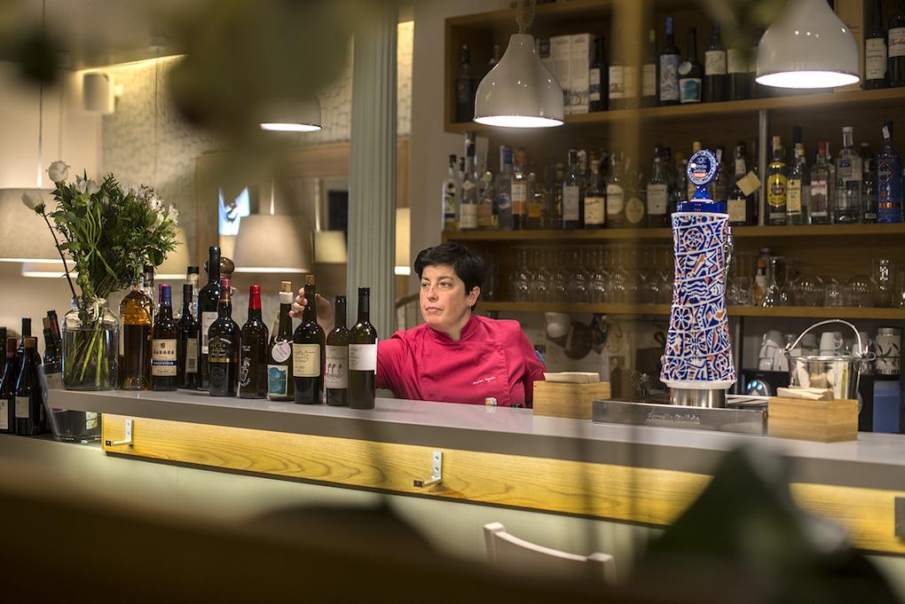 Marian Reguera, una de las almas de Taberna Verdejo. Foto: Alfredo Cáliz