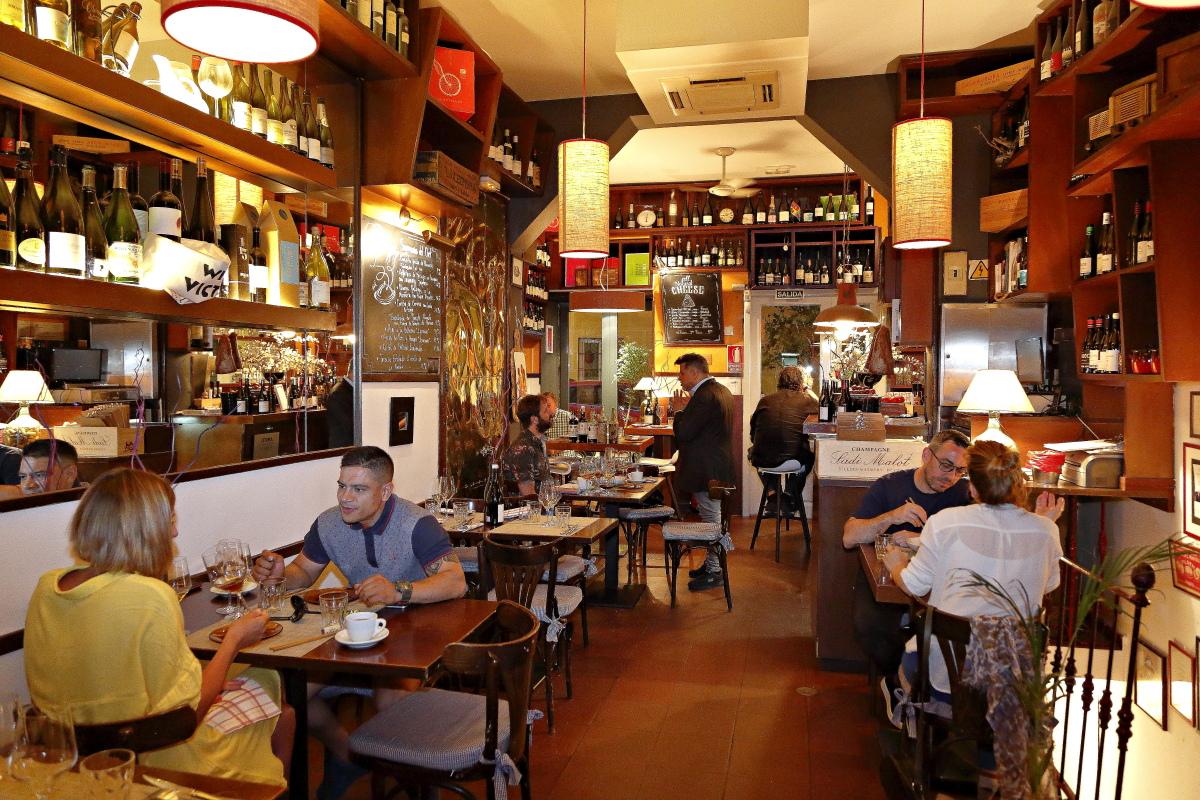 Ambiente en la sala del restaurante Matritum, en Madrid.