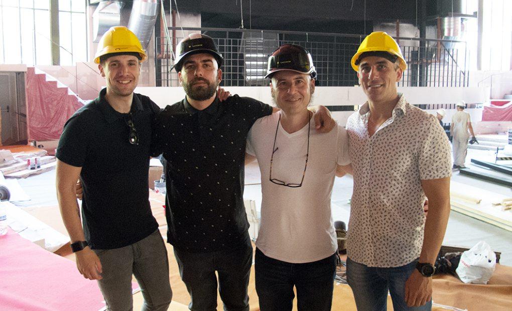Miguel Jiménez (coctelero), Nacho Fernández (director), Joaquín Felipe (cocinero) y Javier Feo (sala).