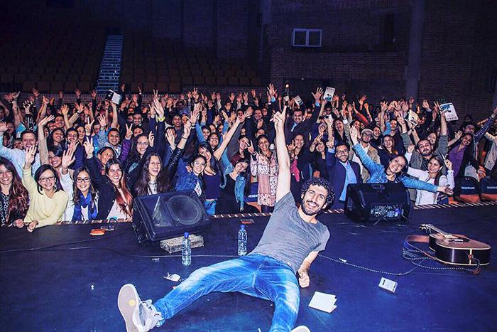 Al final de un concierto en Bogotá. Foto de su amigo @andreswolf