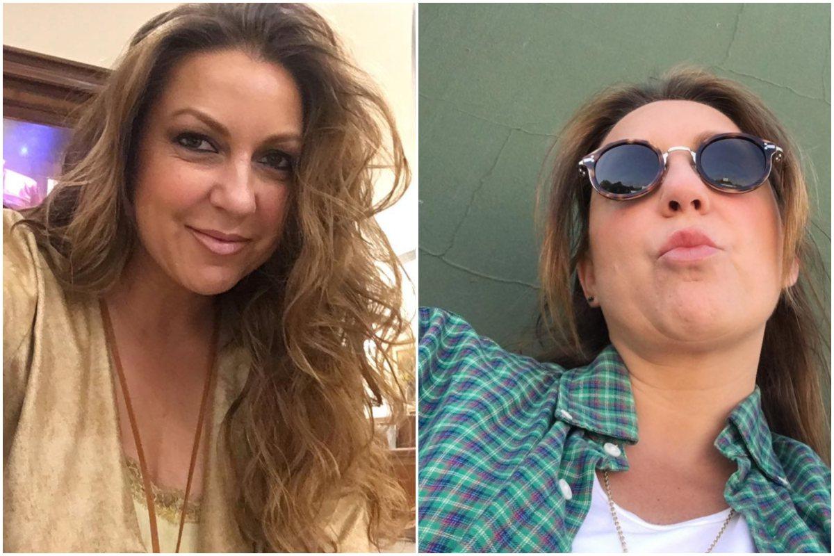 Dos looks diferentes de la cantante Niña Pastori. Fotos: Facebook.