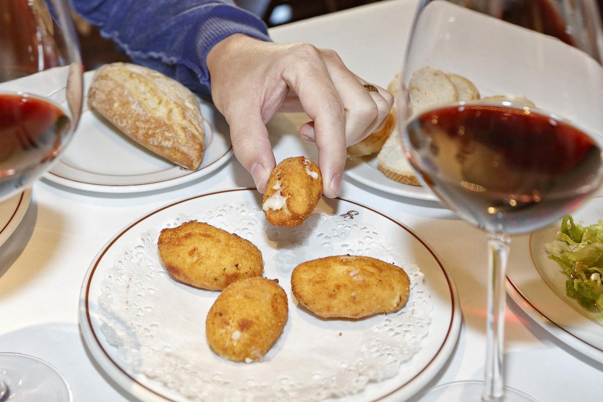 Restaurante 'Tradición Echaurren'. Las croquetas de Marisa Sánchez