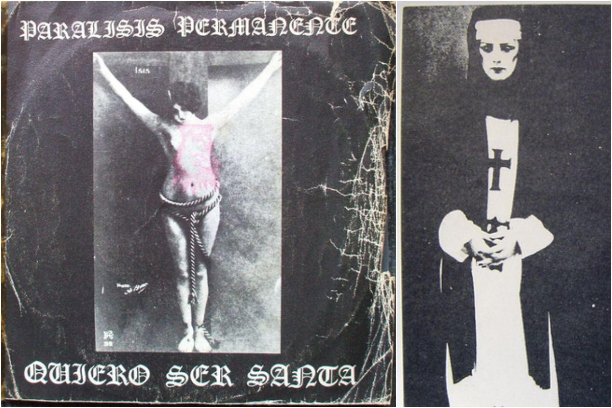 La portada del single 'Quiero ser Santa', de Parálisis Permanente, fue toda una revolución en los ochenta. Fotos: Facebook.