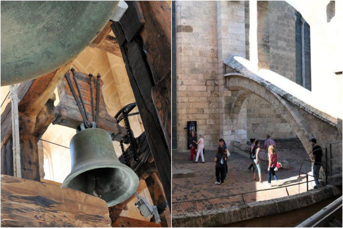 Para subir a las terrazas hay que superar 215 escalones. Foto: La Catedral de Mallorca.