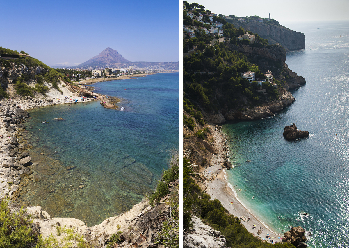 Aguas cristalinas en la playa de La Caleta y la de la Torre de Ambolo. Fotos: Xavi Gutiérrez y Retratería.